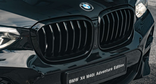 BMW Front Ornamental Grille, High-Gloss Black